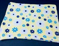 Baby Gear Yellow Blue Daisies Flowers Security Blanket Lovey Plush Babygear