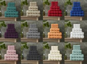 8 Pcs Towel Set 100% Cotton Soft & Absorbent Face Hand and Bath Towel Bale Set