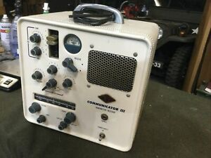 Gonset Communicator III Vintage Ham Vhf 2 Meter Transceiver Two Way Radio
