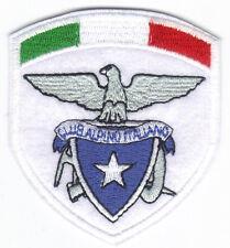 [Patch] CAI CLUB ALPINO ITALIANO con TRICOLORE cm 6,5x7,5 toppa ricamata -075t