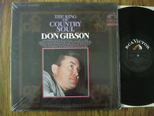 Don Gibson LP 1968 The King of Country Soul EX + stereo in shrink RCA LSP 3974