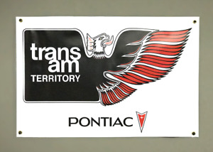 Pontiac Trans Am Territory (white) 24''x36'' Garage Shop Banner