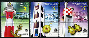 Israel 1798-1800 tabs, MNH. Lighthouses at Jaffa, Tel Aviv, Ashdod, 2009
