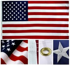 3' X 5' U.S./USA AMERICAN FLAG NYLON EMBROIDERED SOLID BRASS GROMMETS3X5