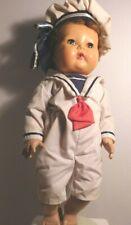 "16"" 1950's American Character TinyTears Doll Hp Head Vinyl Body Saran Hair"