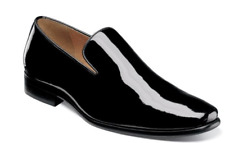 Florsheim Postino Plain Toe Slip On Tuxedo Shoes Black Patent 15178-004
