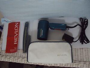 Vintage 1996 Revlon RV-421 Stylist 1600W Hair Dryer Travel Kit W/Case.Teal.Comb