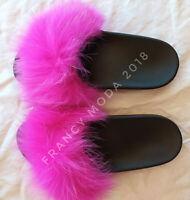 Scarpe donna ciabatte ecopelliccia pelo pantofole sandali pelose SPEDIZIONE GRAT
