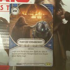 Star Wars Destiny camino del poder #112 fuego del pasado uncommon de Mint