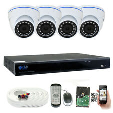8 Channel DVR (4) 5MP HD 1920p CCTV Weatherproof Dome Security Camera System