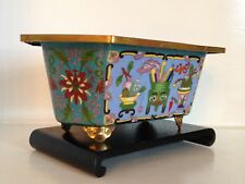 "Old Republic 10"" Chinese Cloisonne Jardiniere Planter ~Precious Objects ~Lotus"