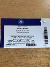 Justin Bieber used ticket O2