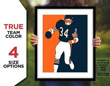 WALTER PAYTON Photo Picture CHICAGO BEARS Football Art 8x10 11x14 11x17 or 16x20