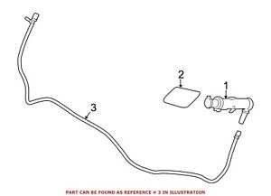 For BMW Genuine Headlight Washer Hose Front 61677241690