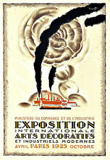 Art Ad Exposition  Arts Decoratifs 1925 Paris  Art Deco  Poster Print