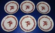 """JLMENAU Graf Von Henneberg German Republic 4 1/2"""" Chickadee Bird Roll Plates 6ea"""