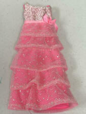 New ListingVintage Barbie Romantic Ruffles Pink & Silver Gown
