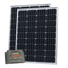200 W (2x100W) 12 V Panneau solaire charge kit avec écran LCD camping-car caravane