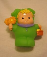 Fisher Price Little People EASTER BUNNY EDDIE Egg Basket Flowers Spring Holiday