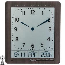 AMS 5893 Wanduhr Funk Anzeige von Zeit, Datum, Wochentag, Temperatur