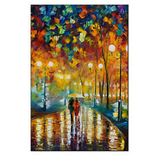 Abstract Colorful Tree Streetscape Wall Art  Lover Canvas Print Large Unframe