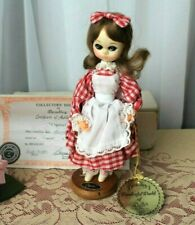 "Bradley Big Eyed Doll 'Crystal' with Box and Certificate Korea Mib 8"" Tall 1978"
