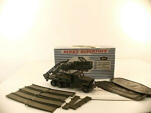 Dinky Toys F n° 884 camion militaire Brockway Poseur de pont army truck boite