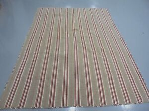 Nice Maroon & Toupe Stripe Whole Cloth Quilt