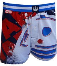$42 STAR WARS UNDERWEAR MEN BLUE RED WHITE R2-D2 COTTON KNIT BOXER SHORTS SIZE M