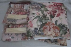 JCPenney Classic Traditions Majestic Floral King Bedskirt 2 Pillow Shams 80s NOS