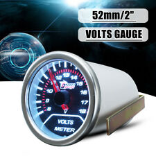 "2"" 52MM UNIVERSAL CAR AUTO SMOKE LEN LED VOLT VOLTAGE GAUGE METER POINTER   /"