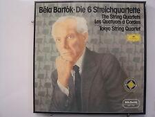 BELA BARTOK Die 6 Streichquartette 3LP BOX SET Imp W. GERMANY DG 2562 238 Stereo