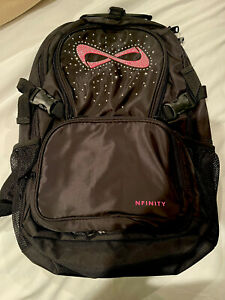 Nfinity  Backpack Black/Pink With Rhinestones