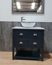Wash Stand 80cm Bathroom Furniture Marble Top Bowl Tap Waste Painted Any Colour