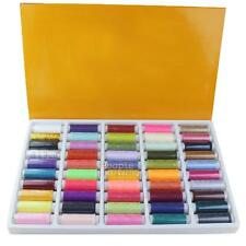 50Pcs Spools Polyester Embroidery Hand Sewing Industrial Machine Quilting Thread
