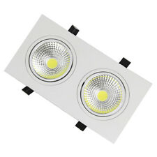 Dimmable 6W(2*3W) LED COB Ceiling Light Recessed Grid Grille Lamp Fixture Office