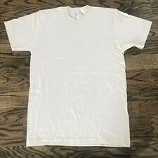 American Apparel 100% Organic Cotton Slim Jersey Cream T-Shirt Size Medium NWOT