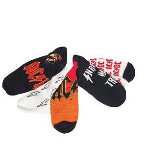 Ac/Dc 5 Pair Socks Size 6.5 - 12 Adult - New