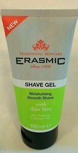 100ml Erasmic Traditional Skincare Moisturising Shave Gel UK NEW