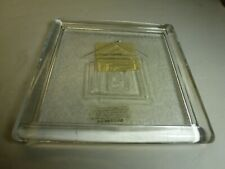 "Living Quarters Glass 5"" Square Pillar Candle Holder Plate Base For Votive too"