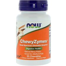 Now Foods, chewyzymes, aroma naturale di bacche, 90 chewables