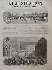 LA ILUSTRACIÓN 1866 NO 1218 TROPAS ITALIANO SUR LA SITIO EL NEPTUNO BOLONIA