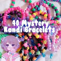 40 Mystery Kandi Bracelet Singles, EDM - ESCAPE - EDC - RAVE - PLUR - FESTIVAL