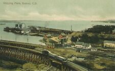 Shipping Piers ~ Sydney NS CB Nova Scotia Harbour Sea Ocean Vintage Postcard