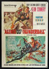 A.007 THUNDERBALL Sean Connery JAMES BOND, MANIFESTO RARA 2a ed. POSTER, SCUBA