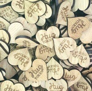 Hug Token Little Pocket Hug Engraved Wooden Token Gift Isolation Keepsake