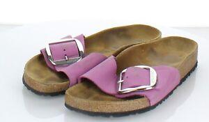 02-30 $130 Women's Sz 40 M Birkenstock Madrid Big Buckle Hard Footbed Sandal