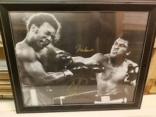 Muhammad Ali  Vs George Foreman ( Autographed Gold By Both )  20 x16 w/CERT