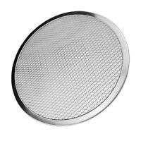 8 inch Aluminum Flat Mesh Pizza Screen Round Baking Tray Net Kitchen Tool