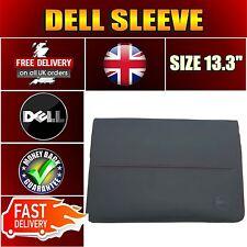 """Original DELL 460-BBRZ Premier (S) 13.3"""" Notebook sleeve black red stitching"""